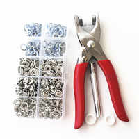 Metal Plier Press Tools for 9.5mm metal prong snap Buttons 100 sets Clamps Press rivets Poppers children's sliders buckle