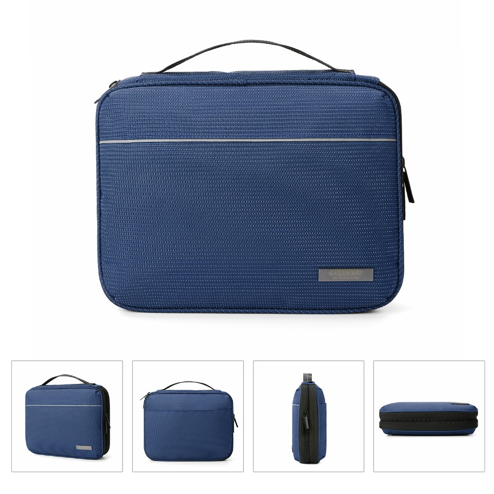 Cables Blue BAGSMART Travel Cable Organizer Cases Electronics Accessories Storage Bag for Hard Drives