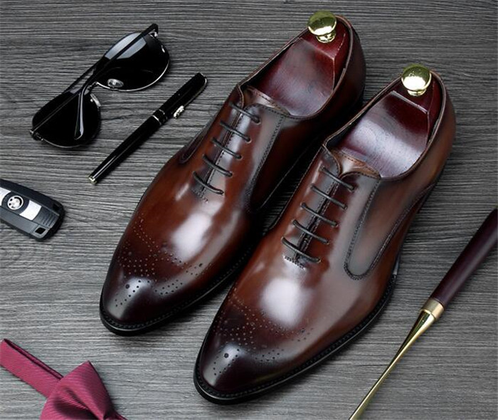 New summer business brogue leather shoes casual shoes lace-up mens hollow carved pointed toe  dress derby shoesNew summer business brogue leather shoes casual shoes lace-up mens hollow carved pointed toe  dress derby shoes