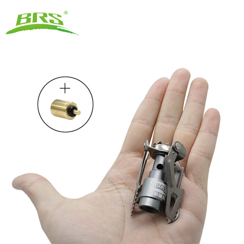 BRS Portable Mini Camping Titanium Stove Outdoor Gas Stove Survival Furnace Stove Pocket Picnic Cooking Gas