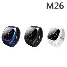 Wasserdicht smart watch m26 frau männer bluetooth smartwatch sync anruf pedometer anti-verlorene für android smartphone