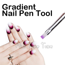 1 PCS Nail Art Acrylic Design Brush Builder UV Gel Manicure 3D Drawing Painting Brushes Pen Gradient Purple