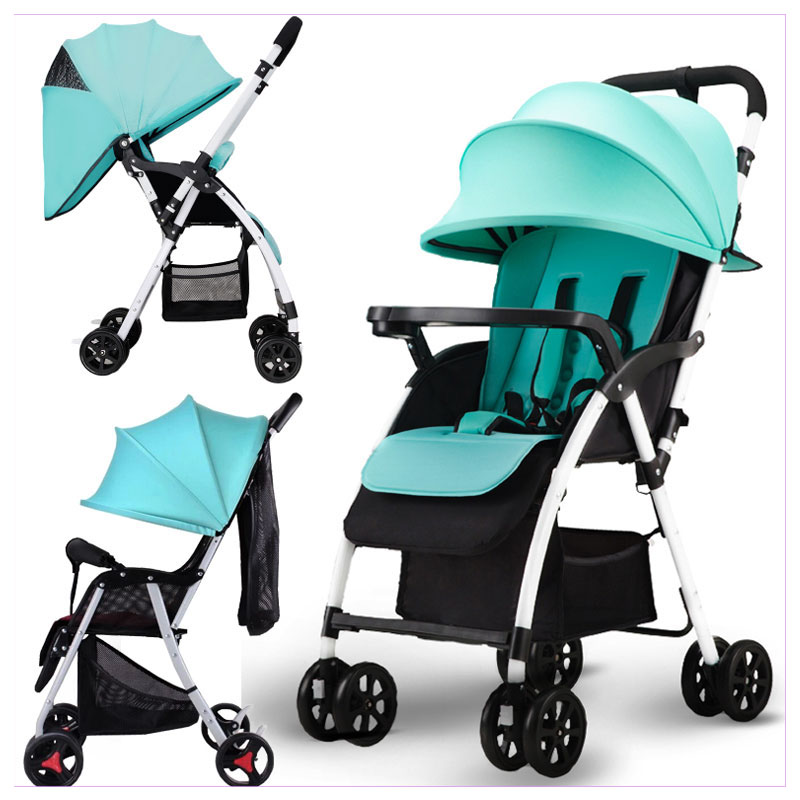 Ultra Light Portable Folding Baby Stroller Can Sit Lie Reverse Handle Four Wheels Umbrella Car Airplane Baby Stroller Pushchair newborn baby stroller 3 in 1 portable folding strollers sit and lie four wheels 2017 convience prams umbrella stroller 0 3years
