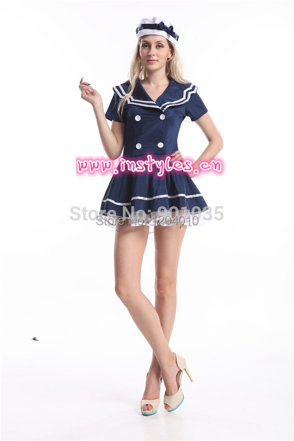 Free Shipping Instyles S 2xl Plus Size 8474 Sailor Girl Costume