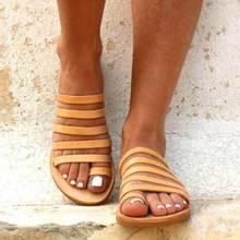 Fashion Summer Women Flat Sandals  Gladiator Ladies Strap Slippers Roman Female Flip Flops Outdoor Casual Sandales Femme