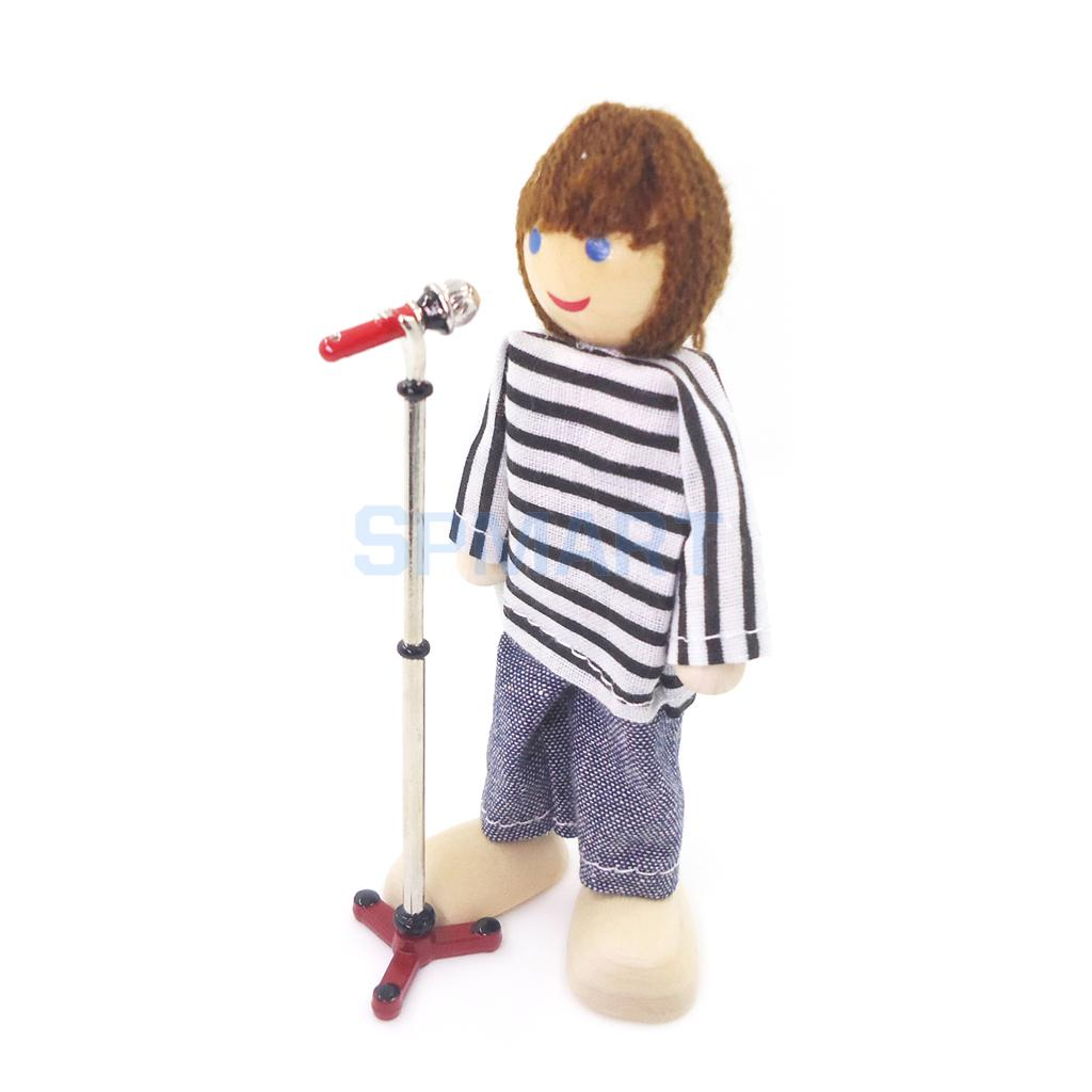 Dolls House Miniature Furniture 1:12 Microphone Stand Music Room Decor Accessory