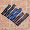 Pulseira de Couro genuíno para Marca Marrom Preto Azul Escuro Grão Crocodilo Relógios Pulseira Pulseira 22mm 24mm Para homens Relógio de luxo