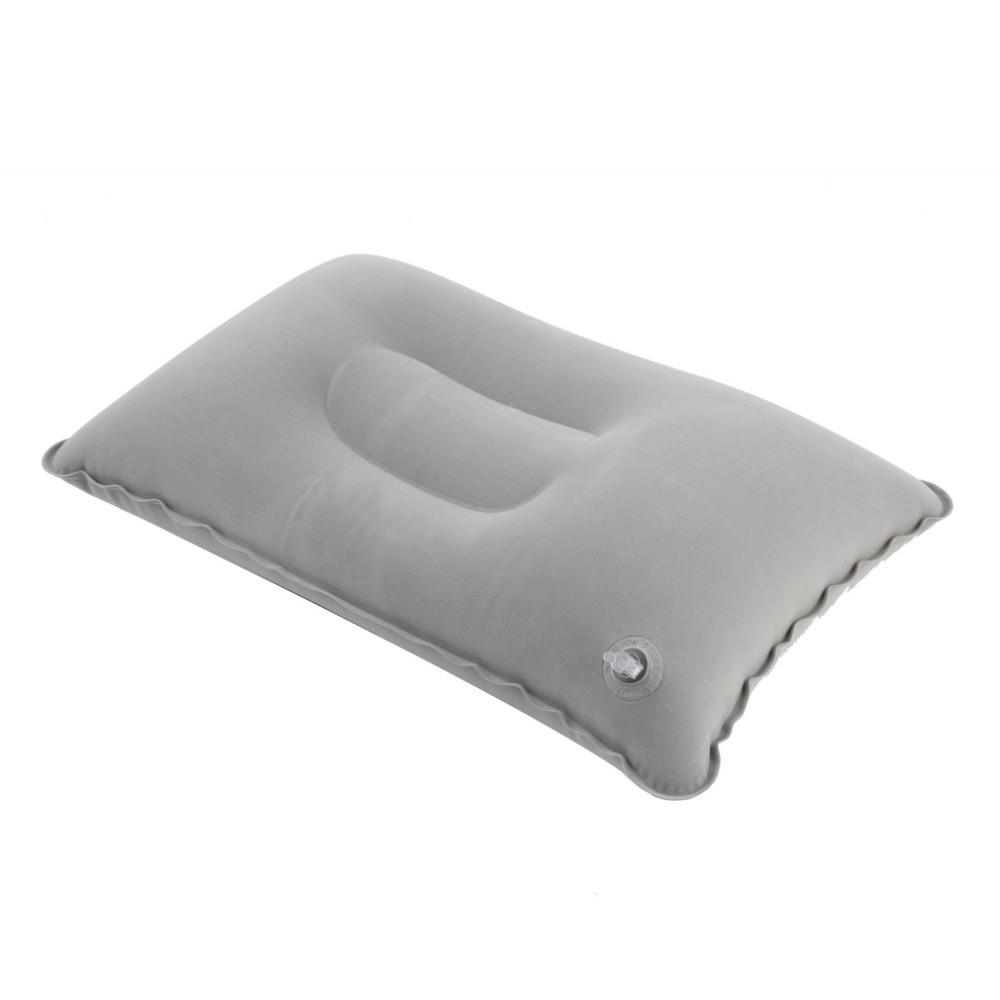 Hot sale Outdoor Portable Folding Air Double Sided Flocking Cushion Inflatable Pillow for Travel Plane Hotel in Camping Mat from Sports Entertainment