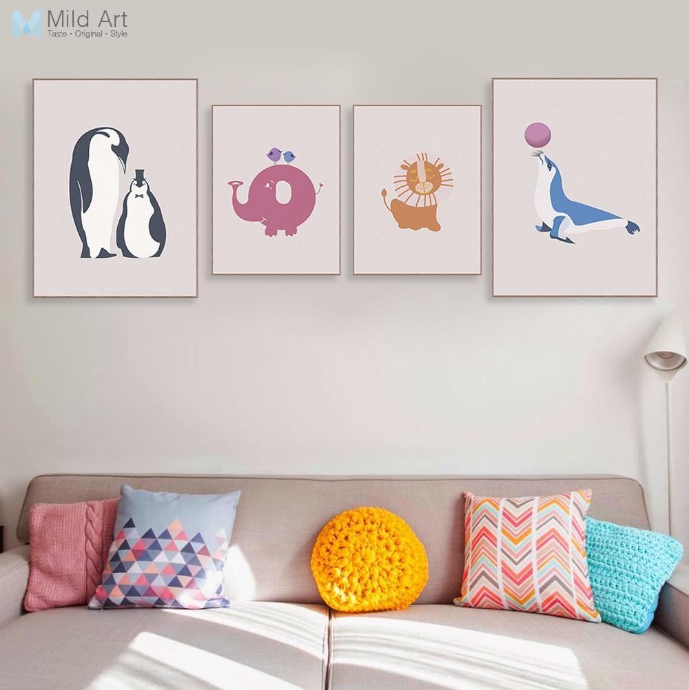 Modern Kawaii Animal Elephant Penguin Home Decor Nordic