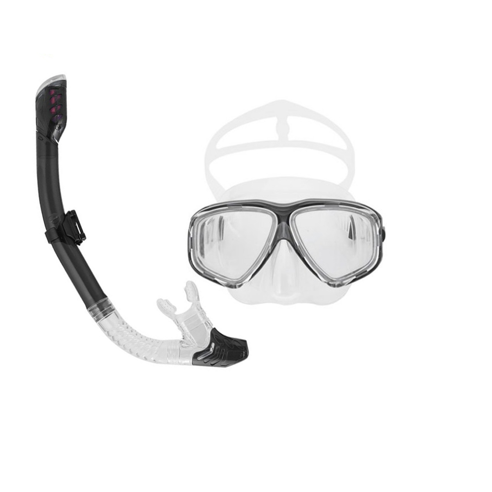 Professional Diving Masks Goggle Full Dry Silicone Snorkel Tube Set Unisex Diving Swimming Water Sports Equipment Drop Shipping