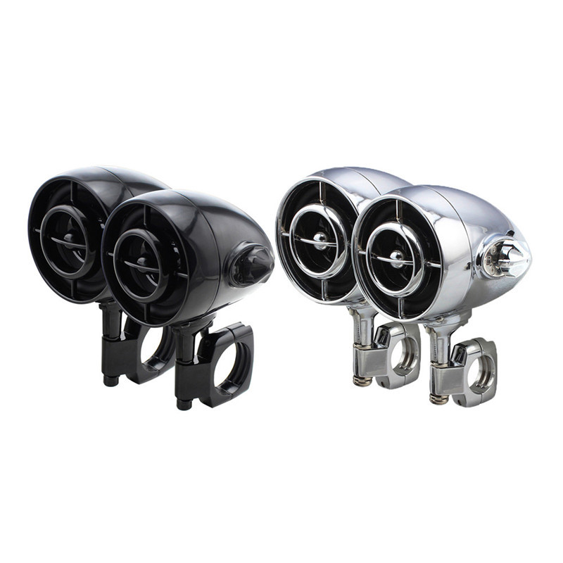 MT485 2 PCS Motorcycle MP3 Audio speaker Bluetooth Electric Car Waterproof Audio Accessories to Motorcycles Black , Silver yiyelang yh 94 mobile car audio speaker tweeter system black silver 2 pcs
