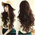 New Fashion Cosplay Party Brown Wig Women's Deep Wavy Curly Long Hair Full Wigs#L04165