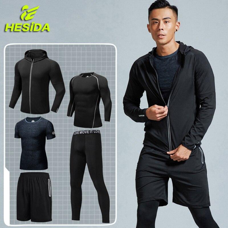 Combinaison de Sport ensemble de Compression vêtements de course Sport Jogging costumes collants entraînement Fitness Traning survêtement ajustement sec vêtements de Sport pour hommes