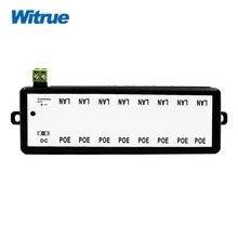 Witrue POE Injector 8 port for Video Surveillance IP Cameras 802.3af POE Power Injector