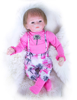 2018 New Arrival 19inch 47cm Silicone baby Reborn Vinyl Doll rooted hair Bebes Reborn Babies Toys for child Juguetes Brinquedos