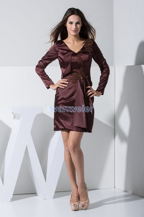 free shipping short dresses 2016 hot sale plus size special occasion dresses new fashion long sleeve Mother of the Bride Dresses