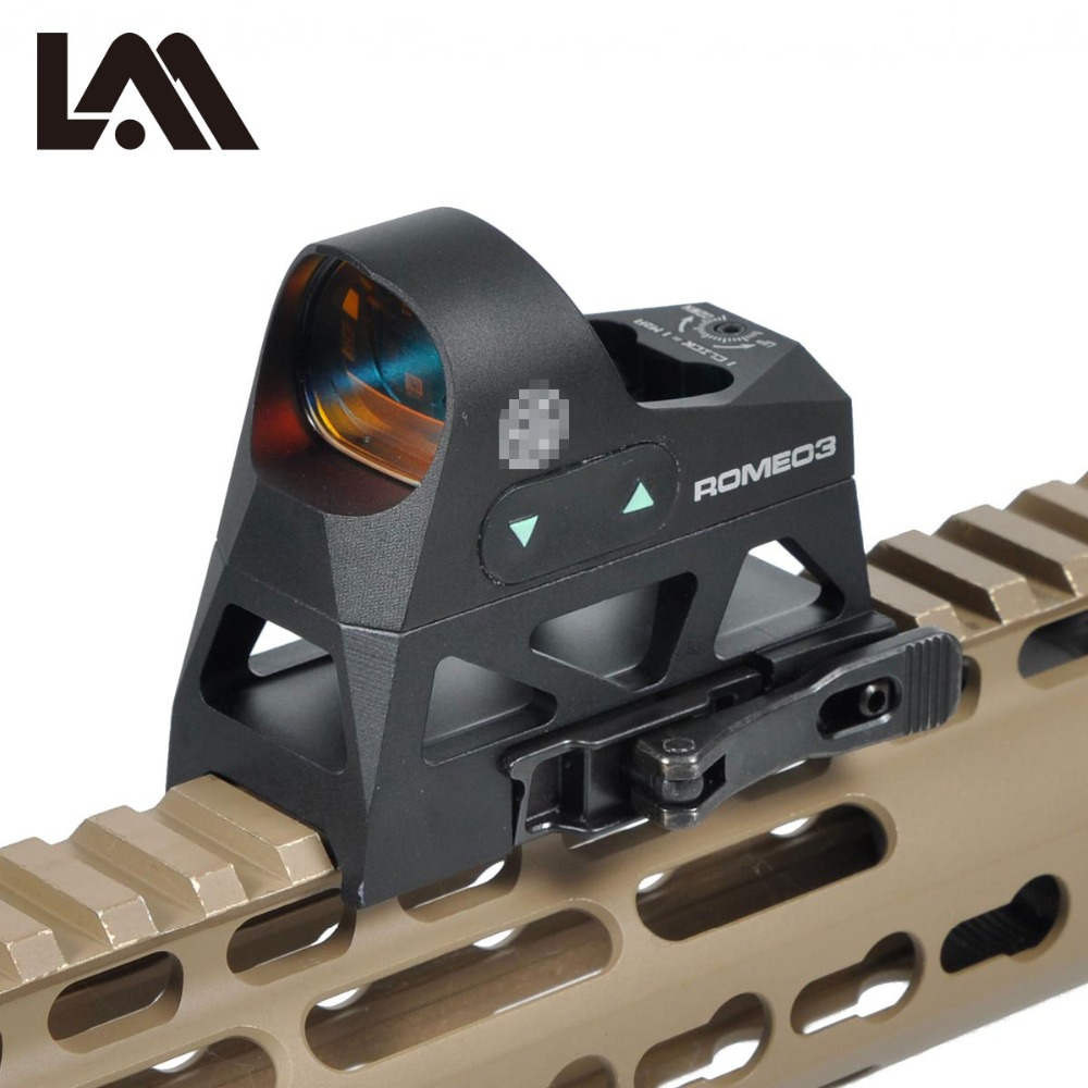 LAMBUL ROMEO3 1x25 Mini Reflex Sight 3 MOA Dot Reticle Red Dot Sight Scope Picatinny QD Mount for Rifles Carbines greenbase 3 moa mini red dot sight reflex sight 1x25 reticle red dot scope with qd mount hunting scopes for 20mm rail base