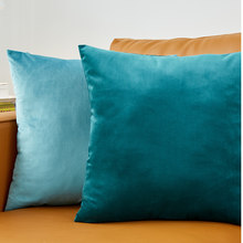 Blue Throw Pillow Cover Velvet Cushion Cover For Living Room Sofa 45*45 Kussenhoes Cushions Home Decoration Housse De Coussin(China)