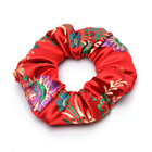 2018 New Flower Embroidered Satin Silk Brocade Scrunchies Lady Hair Accessoires Hair Ties for Women Fashion Accessories