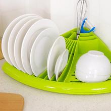Saingace Corner Dish Tray Drain Rack Kitchen Dish Holder Dish Drying Rack Creative Tool green/blue/pink/white Happy Sale ap605