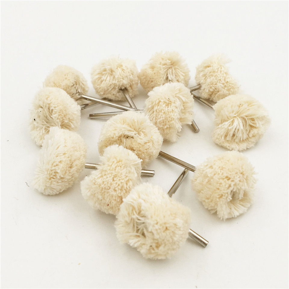 100pcs Shank 2.35mm Double Cotton Thread Polishing Brushes For Dremel Accessories Rotary Abrasive Tools Power Tools Accessories