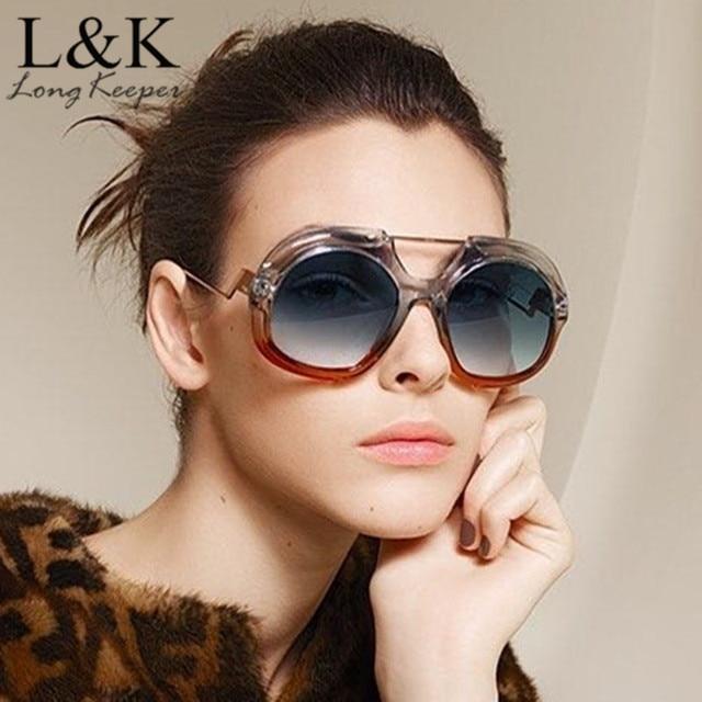 d924b4af133 Oversized Round Sunglasses Women Large Size Sunglasses Men Transparent  Gradient Frame Vintage Retro Vintage Sun Glasses