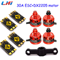 4pcs DX2205 2300KV(2CW 2CCW) Brushless Motor for 250 FPV Racing Quadcopter +4 pcs 30A SUPER RACERBEE BLHELI_S (MUILTSHOT) Esc