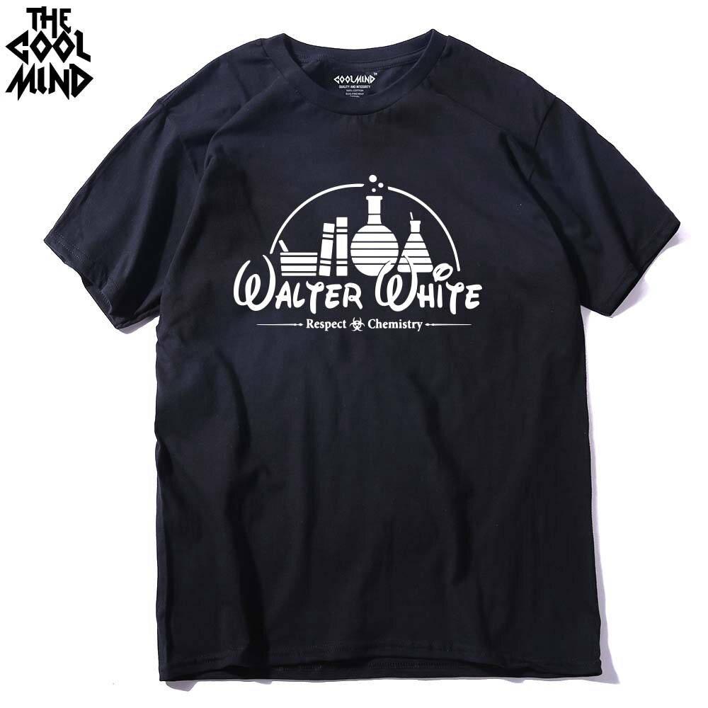 Men T-Shirt Tops Short-Sleeve COOLMIND Heisenberg Breaking Bad Casual 100%Cotton BR0122A