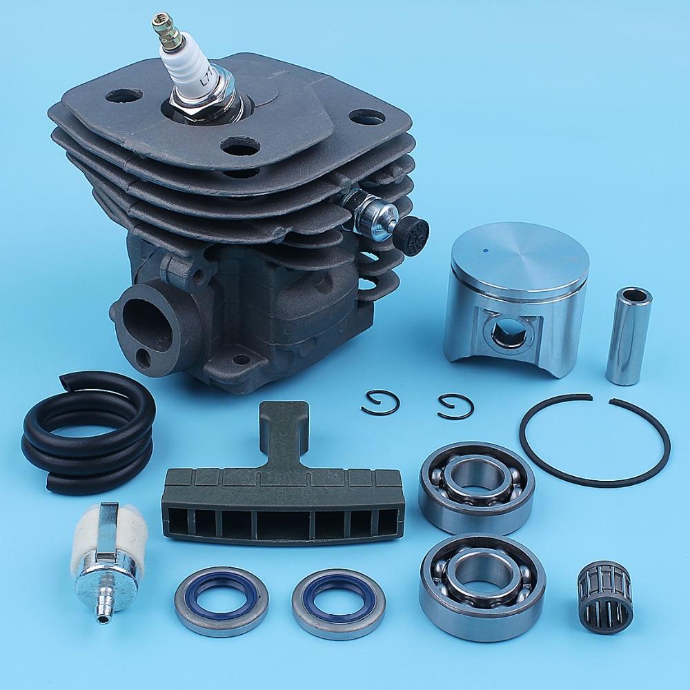Nikasil Plated Cylinder Piston Kit For Husqvarna 357XP 357 XP 359 EPA Chainsaw 537157302 537248502 Crank Ball Bearing Spare Part