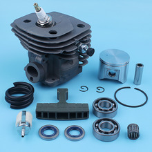 цена на Nikasil Plated Cylinder Piston Kit For Husqvarna 357XP 357 XP 359 EPA Chainsaw 537157302 537248502 Crank Ball Bearing Spare Part