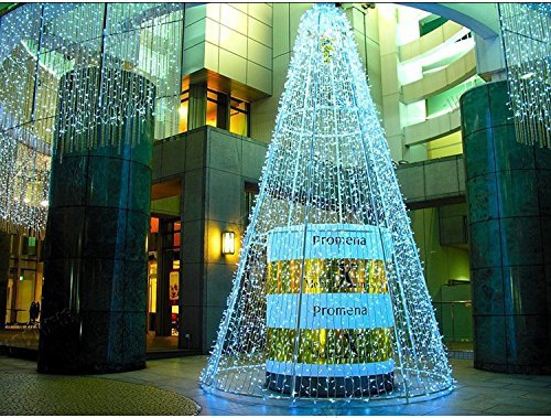 50pcs hot sale 33m full color 300leds led outdoor decoration christmas tree lightsled curtain light for garden wedding party in holiday lighting from