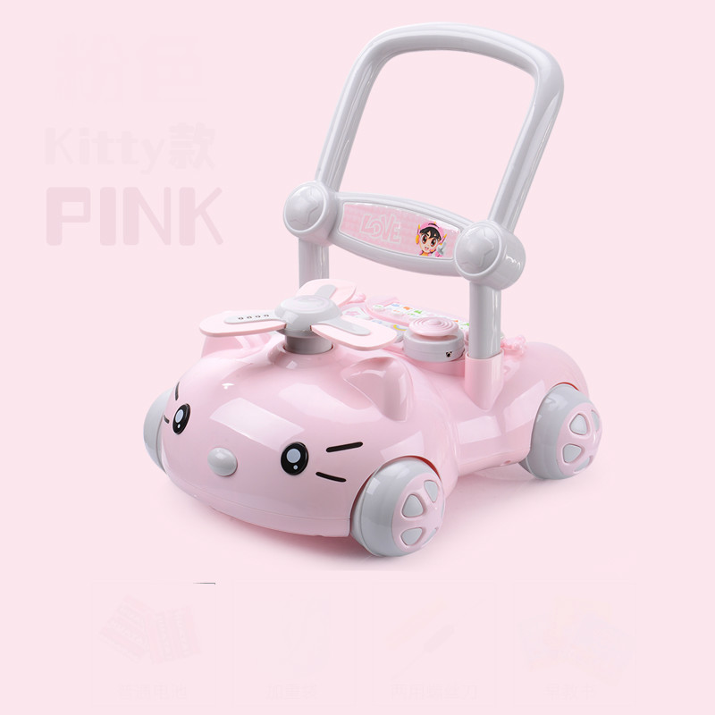 Baby Walker Toddler Trolley Walker for Kid's Early Learning Educational  Musical Adjustable Baby First Steps Car For 9-24M Baby