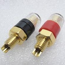 A pair Gold-plated copper Banana connector 6mm banana plug sockets  Binding Post  New