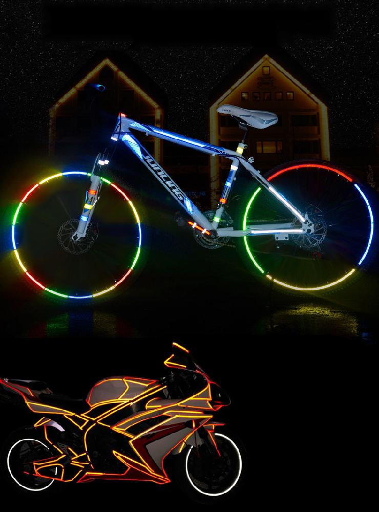 Stickers Decals Bike Safety-Equipment Reflective Motorcycle Bike-Decoration Full-Body-Styling-Sticker