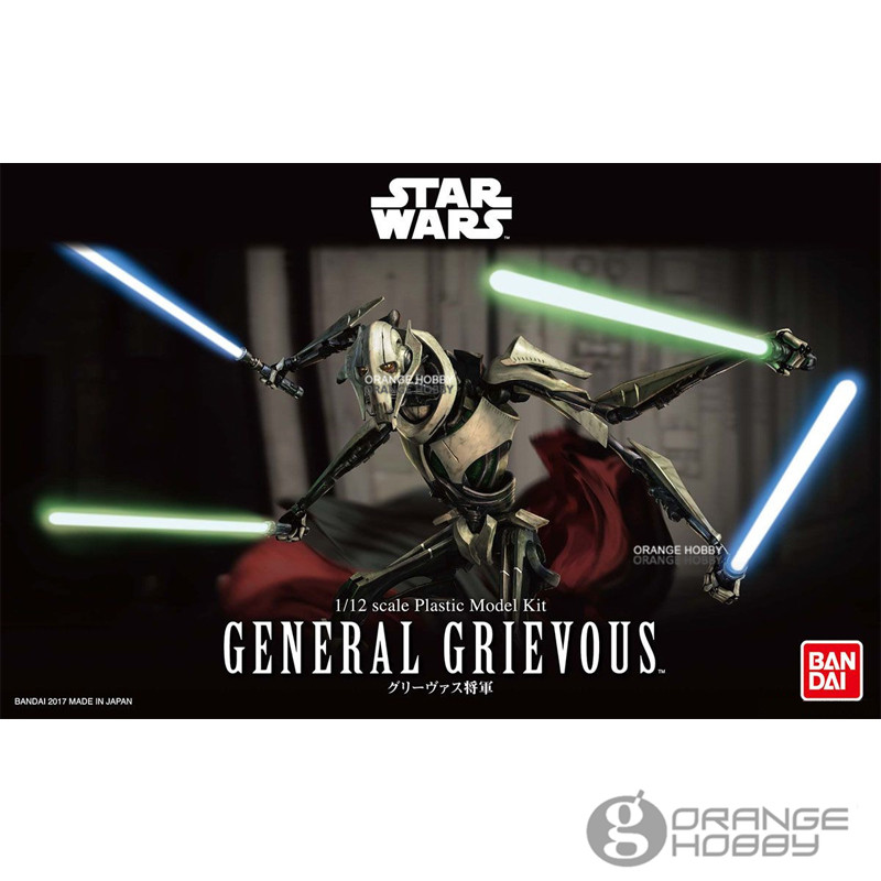 OHS Bandai Star War 1/12 General Grievous Assembly Plastic Model Kits oh ohs bandai star war tfa 1 12 bb 8