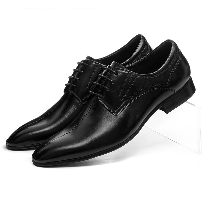 Fashion Brown / black pointed toe dress shoes mens formal shoes genuine leather mens business shoes top quality crocodile grain black oxfords mens dress shoes genuine leather business shoes mens formal wedding shoes