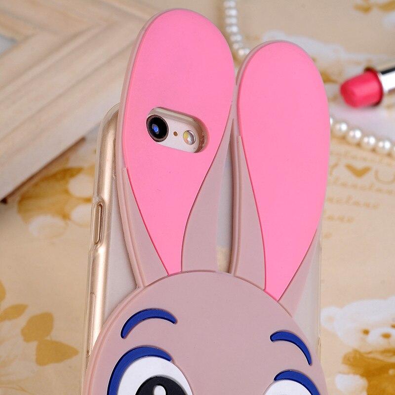 3D Rabbit Teddy Bear Soft Silicone Case For Lenovo S850 S850T S 850 Phone Cover Cartoon Minnie Mouse Funda Fashion Capa