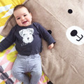 Multi-Function Play Mat Animals Bear Baby Blanket Carpet Rug Children Bed Room Decoration Nordic Style Kids Decor Photo Props