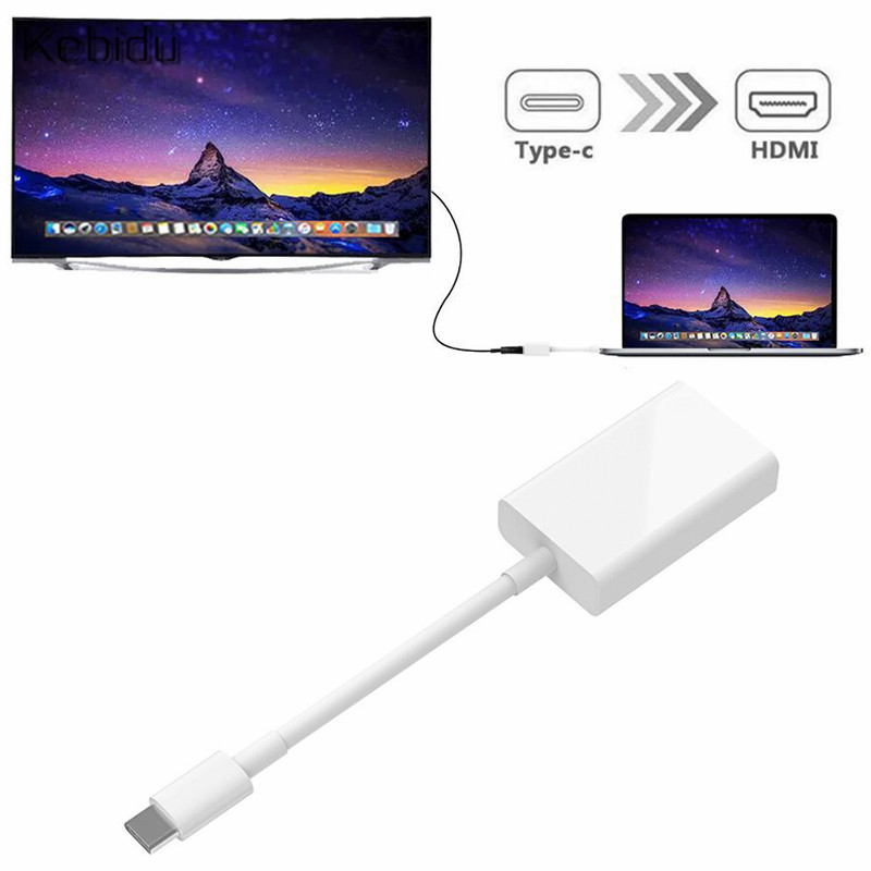 USB C Type C to HDMI Adapter 3.1 Male to HDMI Female Cable Adapter Converter for Samsung S9/8 Plus HTC HUAWEI LG G8