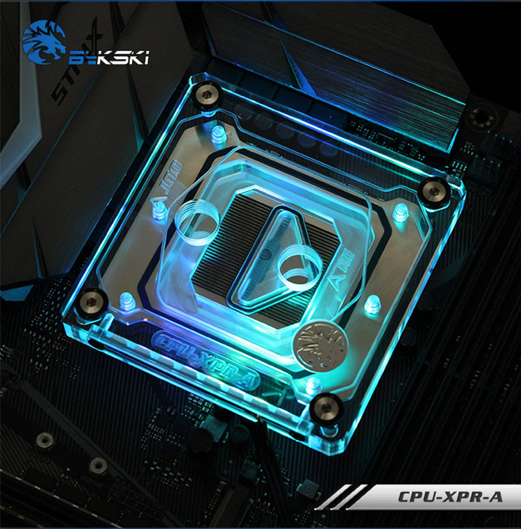 Bykski CPU Water Cooling Radiator Block use for INTEL LGA1150 1151 1155 1156 2011 X99 Transparent with RGB Liquid Cooling System bykski multicol water cooling block cpu radiator use for amd ryzen am3 am4 acrylic cooler block 0 5mm waterway matel bracket