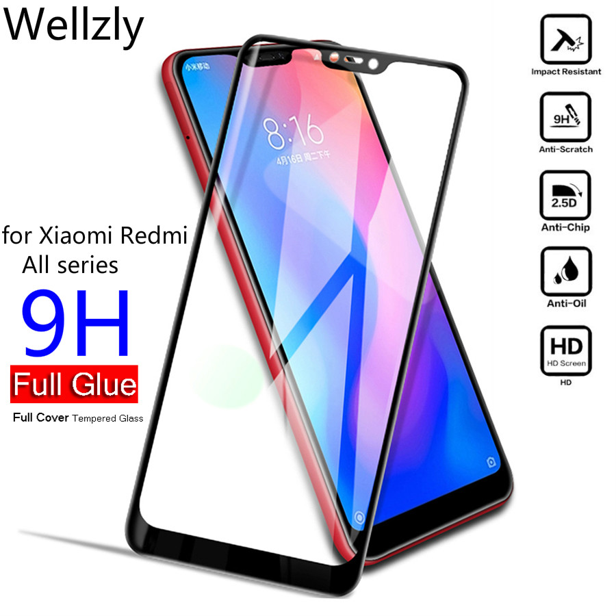 Full Cover Tempered Glass For Xiaomi Pocophone F1 <font><b>Mi</b></font> <font><b>9</b></font> <font><b>Mi</b></font> 8 A2 Lite Mix 2s Redmi Note 6 5 Pro <font><b>Global</b></font> Screen Protector <font><b>Mi</b></font> 8 Lite image