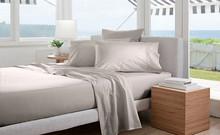100% Egyptian Cotton Bedding 1600 TC  White Ivory Gray colors King Fitted Sheet Duvet cover Pillowcases 6 pieces set customize