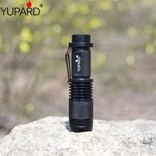 YUPARD Mini 12W XML XM-L2 LED Adjustable Zoomable Flashlight Lamp Light Torch Black T6 LED 1x18650 rechargeable battery