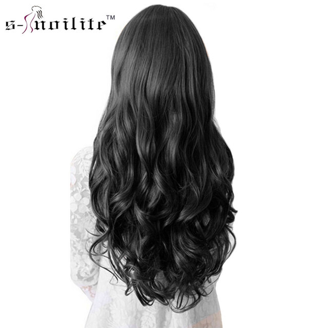 Snoilite 18inch24inch Women Curly Hairpiece 5 Clips In Hair