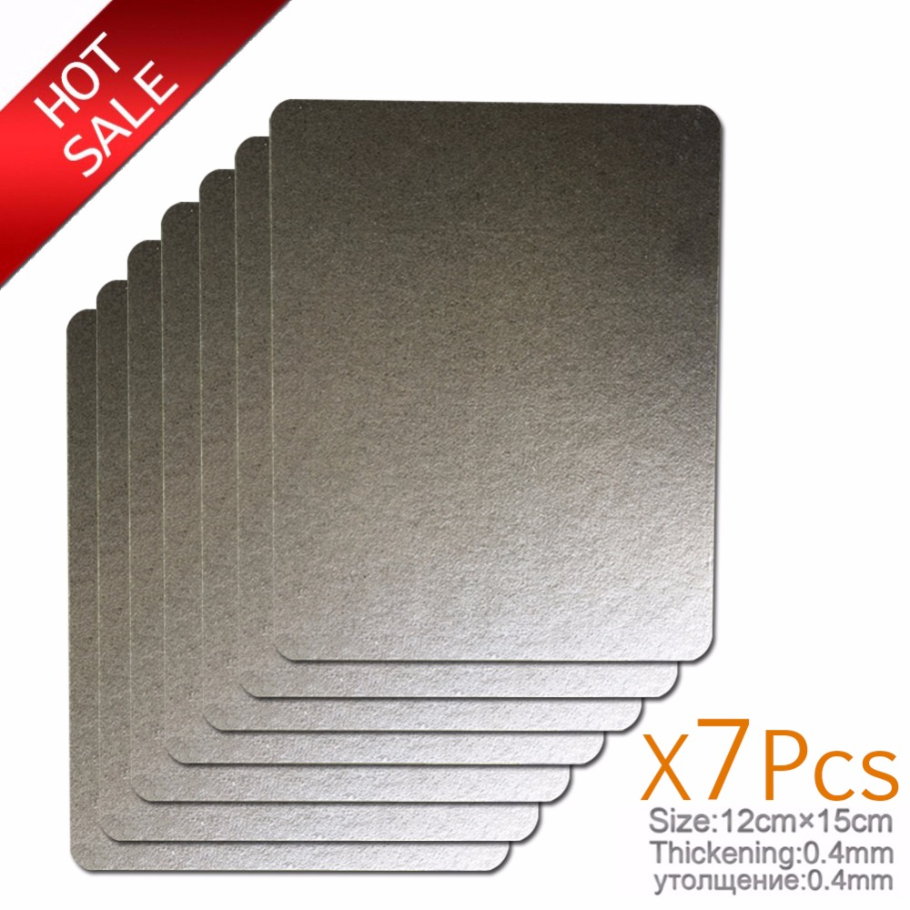 7pcs 12*15cm Spare parts thickening mica Plates microwave ovens sheets for Galanz Midea Panasonic LG etc.. magnetron cap