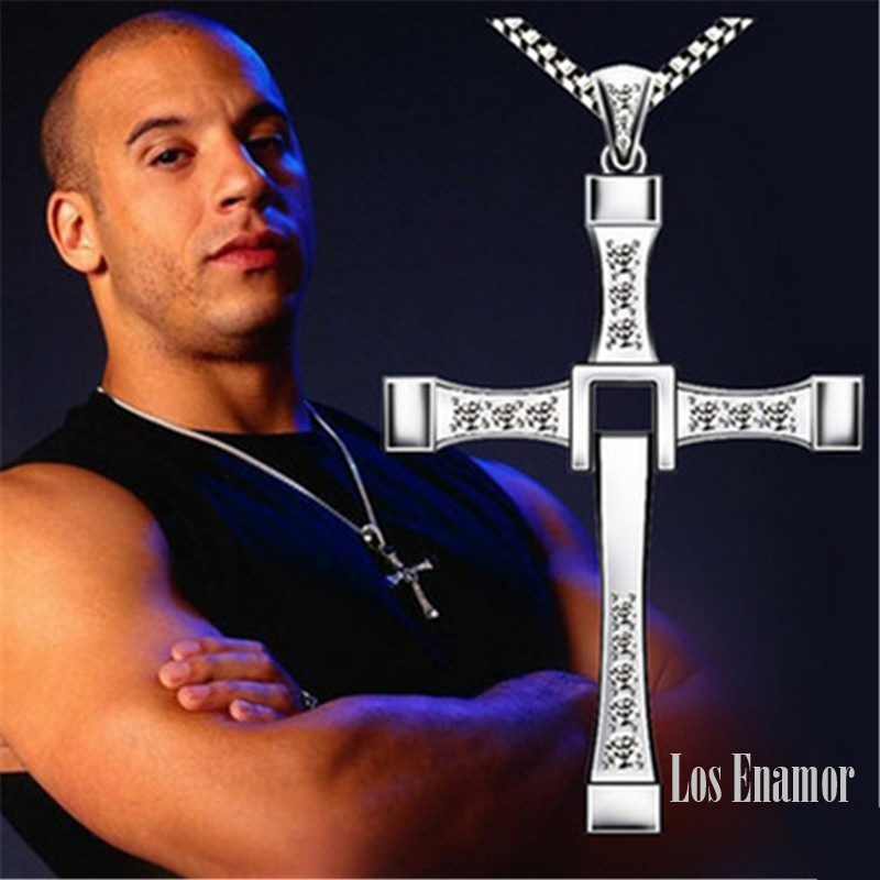 New Male Necklaces & Pendants Fashion Movie jewelry The Fast and The Furious Toretto Men Classic CROSS Pendant Necklace10