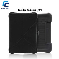 Chinfai ZH 5143 For IPad Mini Case 2 In 1 Useful Silicone And Leather Foldable
