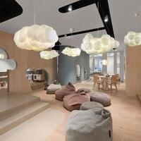 Nordic Clouds lampa wisząca lampa jedwabna ciemne chmury Hanglamp osobowość udekoruj wisząca lampa do hotelowej restauracji Lobby w Wiszące lampki od Lampy i oświetlenie na