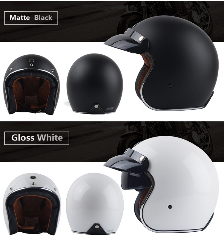 retro open face helmet