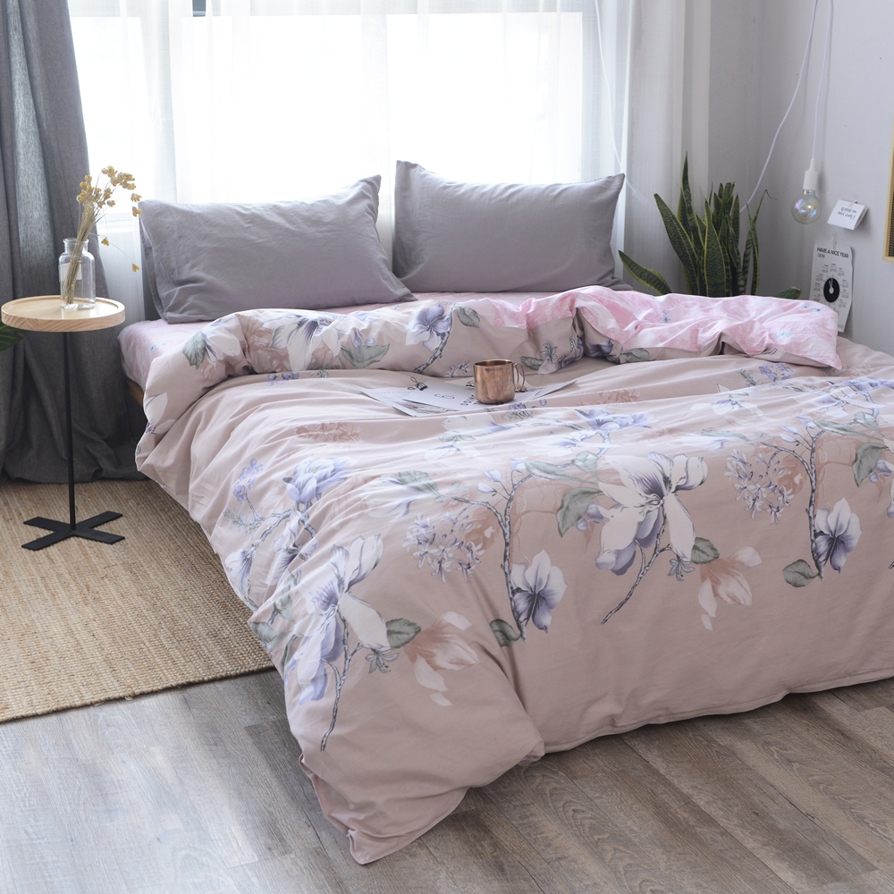 Vintage Chinese Style White Print 1 Piece Duvet Cover With Zipper 100% Cotton Quilt Or Comforter Or Blanket Case 200x230cm Size